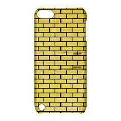 Brick1 Black Marble & Yellow Watercolor Apple Ipod Touch 5 Hardshell Case With Stand