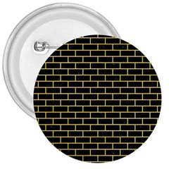 Brick1 Black Marble & Yellow Watercolor (r) 3  Buttons
