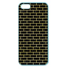 Brick1 Black Marble & Yellow Watercolor (r) Apple Seamless Iphone 5 Case (color)