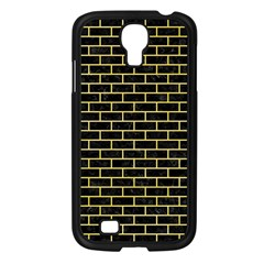 Brick1 Black Marble & Yellow Watercolor (r) Samsung Galaxy S4 I9500/ I9505 Case (black)