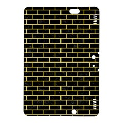 Brick1 Black Marble & Yellow Watercolor (r) Kindle Fire Hdx 8 9  Hardshell Case