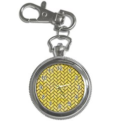 Brick2 Black Marble & Yellow Watercolor Key Chain Watches
