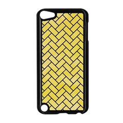 Brick2 Black Marble & Yellow Watercolor Apple Ipod Touch 5 Case (black)