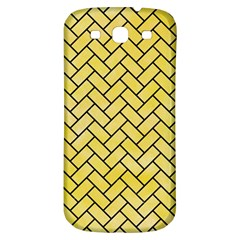 Brick2 Black Marble & Yellow Watercolor Samsung Galaxy S3 S Iii Classic Hardshell Back Case