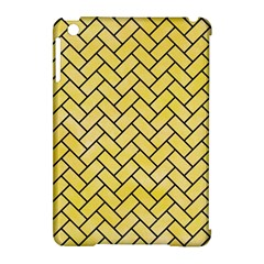 Brick2 Black Marble & Yellow Watercolor Apple Ipad Mini Hardshell Case (compatible With Smart Cover)
