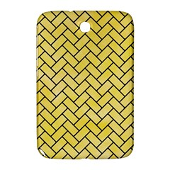 Brick2 Black Marble & Yellow Watercolor Samsung Galaxy Note 8 0 N5100 Hardshell Case