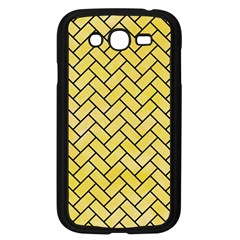 Brick2 Black Marble & Yellow Watercolor Samsung Galaxy Grand Duos I9082 Case (black)