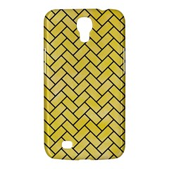 Brick2 Black Marble & Yellow Watercolor Samsung Galaxy Mega 6 3  I9200 Hardshell Case
