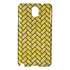 Brick2 Black Marble & Yellow Watercolor Samsung Galaxy Note 3 N9005 Hardshell Case