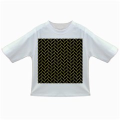 Brick2 Black Marble & Yellow Watercolor (r) Infant/toddler T Shirts