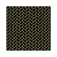Brick2 Black Marble & Yellow Watercolor (r) Acrylic Tangram Puzzle (6  X 6 )