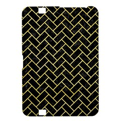 Brick2 Black Marble & Yellow Watercolor (r) Kindle Fire Hd 8 9