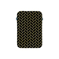 Brick2 Black Marble & Yellow Watercolor (r) Apple Ipad Mini Protective Soft Cases