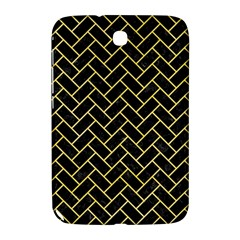 Brick2 Black Marble & Yellow Watercolor (r) Samsung Galaxy Note 8 0 N5100 Hardshell Case