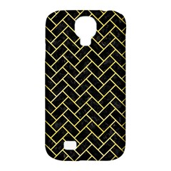 Brick2 Black Marble & Yellow Watercolor (r) Samsung Galaxy S4 Classic Hardshell Case (pc+silicone)