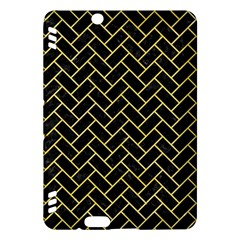 Brick2 Black Marble & Yellow Watercolor (r) Kindle Fire Hdx Hardshell Case