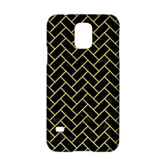 Brick2 Black Marble & Yellow Watercolor (r) Samsung Galaxy S5 Hardshell Case