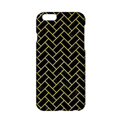 Brick2 Black Marble & Yellow Watercolor (r) Apple Iphone 6/6s Hardshell Case