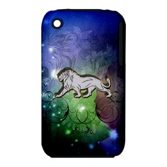 Wonderful Lion Silhouette On Dark Colorful Background Iphone 3s/3gs