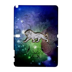 Wonderful Lion Silhouette On Dark Colorful Background Galaxy Note 1