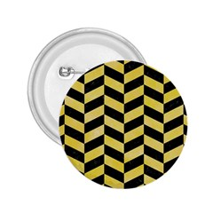 Chevron1 Black Marble & Yellow Watercolor 2 25  Buttons