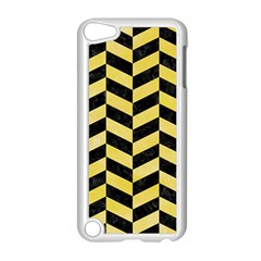 Chevron1 Black Marble & Yellow Watercolor Apple Ipod Touch 5 Case (white)
