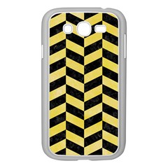Chevron1 Black Marble & Yellow Watercolor Samsung Galaxy Grand Duos I9082 Case (white)