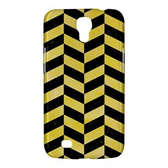 Chevron1 Black Marble & Yellow Watercolor Samsung Galaxy Mega 6 3  I9200 Hardshell Case
