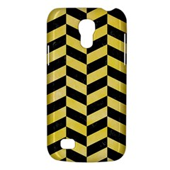 Chevron1 Black Marble & Yellow Watercolor Galaxy S4 Mini