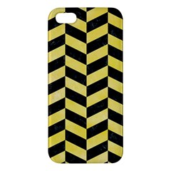 Chevron1 Black Marble & Yellow Watercolor Iphone 5s/ Se Premium Hardshell Case
