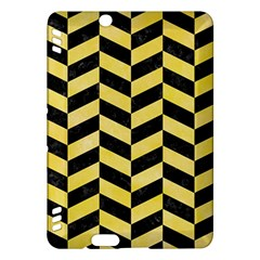 Chevron1 Black Marble & Yellow Watercolor Kindle Fire Hdx Hardshell Case