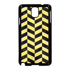Chevron1 Black Marble & Yellow Watercolor Samsung Galaxy Note 3 Neo Hardshell Case (black)