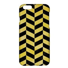 Chevron1 Black Marble & Yellow Watercolor Apple Iphone 6 Plus/6s Plus Hardshell Case