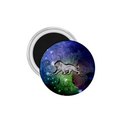 Wonderful Lion Silhouette On Dark Colorful Background 1 75  Magnets