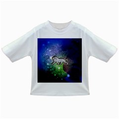 Wonderful Lion Silhouette On Dark Colorful Background Infant/toddler T Shirts