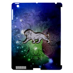 Wonderful Lion Silhouette On Dark Colorful Background Apple Ipad 3/4 Hardshell Case (compatible With Smart Cover)