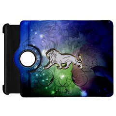 Wonderful Lion Silhouette On Dark Colorful Background Kindle Fire Hd 7