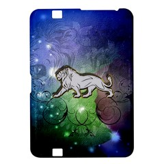 Wonderful Lion Silhouette On Dark Colorful Background Kindle Fire Hd 8 9