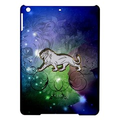 Wonderful Lion Silhouette On Dark Colorful Background Ipad Air Hardshell Cases