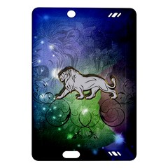 Wonderful Lion Silhouette On Dark Colorful Background Amazon Kindle Fire Hd (2013) Hardshell Case