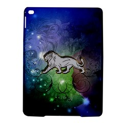 Wonderful Lion Silhouette On Dark Colorful Background Ipad Air 2 Hardshell Cases