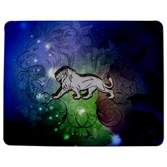 Wonderful Lion Silhouette On Dark Colorful Background Jigsaw Puzzle Photo Stand (rectangular)