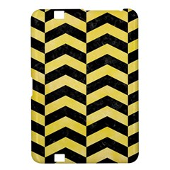 Chevron2 Black Marble & Yellow Watercolor Kindle Fire Hd 8 9