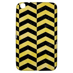 Chevron2 Black Marble & Yellow Watercolor Samsung Galaxy Tab 3 (8 ) T3100 Hardshell Case
