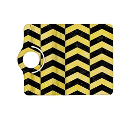 Chevron2 Black Marble & Yellow Watercolor Kindle Fire Hd (2013) Flip 360 Case
