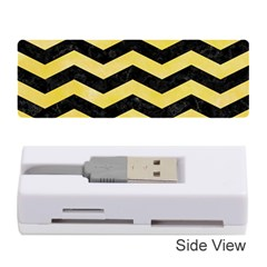 Chevron3 Black Marble & Yellow Watercolor Memory Card Reader (stick)