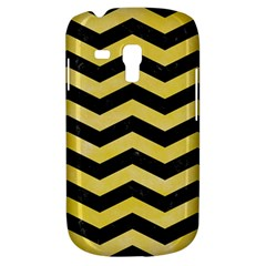 Chevron3 Black Marble & Yellow Watercolor Galaxy S3 Mini