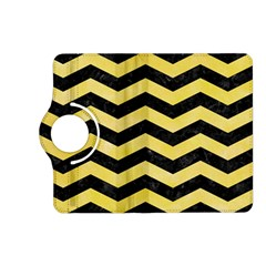 Chevron3 Black Marble & Yellow Watercolor Kindle Fire Hd (2013) Flip 360 Case