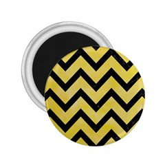 Chevron9 Black Marble & Yellow Watercolor 2 25  Magnets