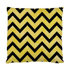 Chevron9 Black Marble & Yellow Watercolor Standard Cushion Case (one Side)
